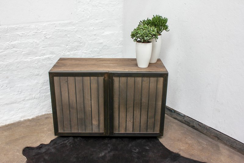Louisa reclaimed scaffolding board media unit with slatted wood and perfora carla muncaster treniq 1 1522918319877