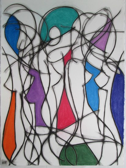 Nine colour abstract no.9 kevin jones treniq 1 1523196839533