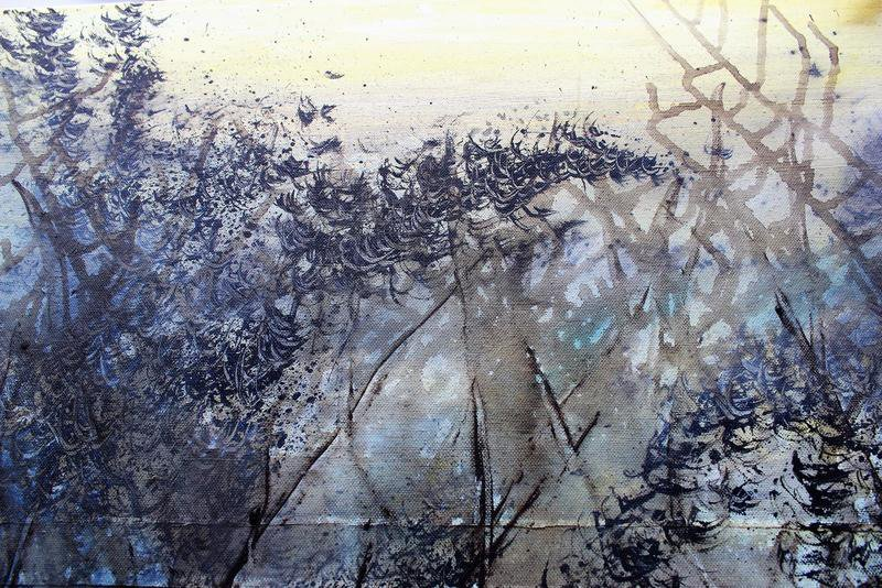Skyfall mist semi abstract painting 20 x 40%22 lindsey keates environmental artist  treniq 1 1523202977306