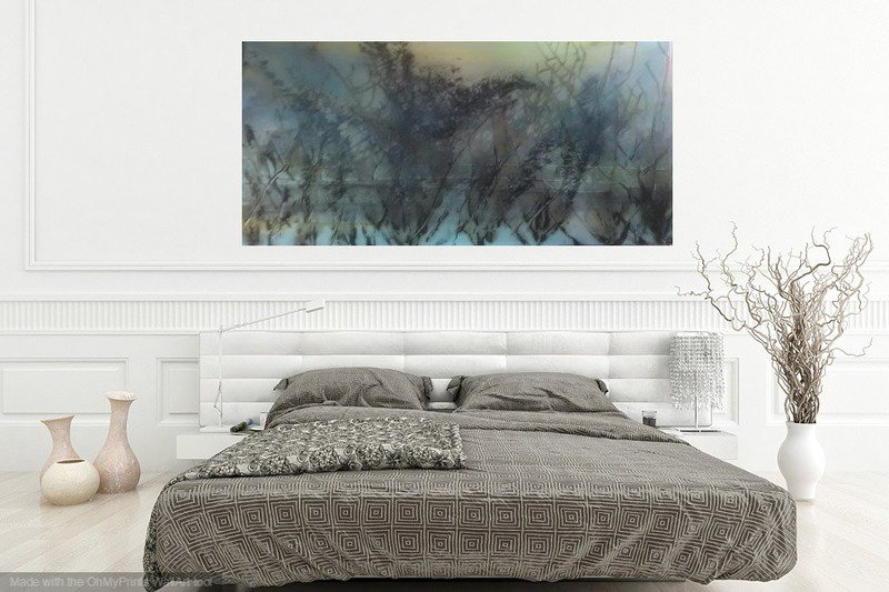 Skyfall mist semi abstract painting 20 x 40%22 lindsey keates environmental artist  treniq 1 1523203023821