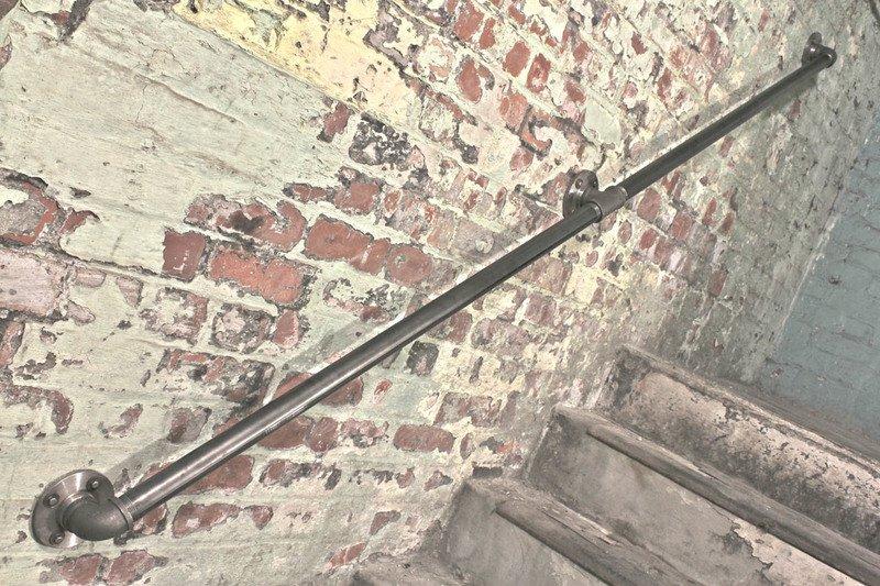 Susannah industrial dark steel pipe staircase hand rail or wall mounted ban carla muncaster treniq 1 1523265707980
