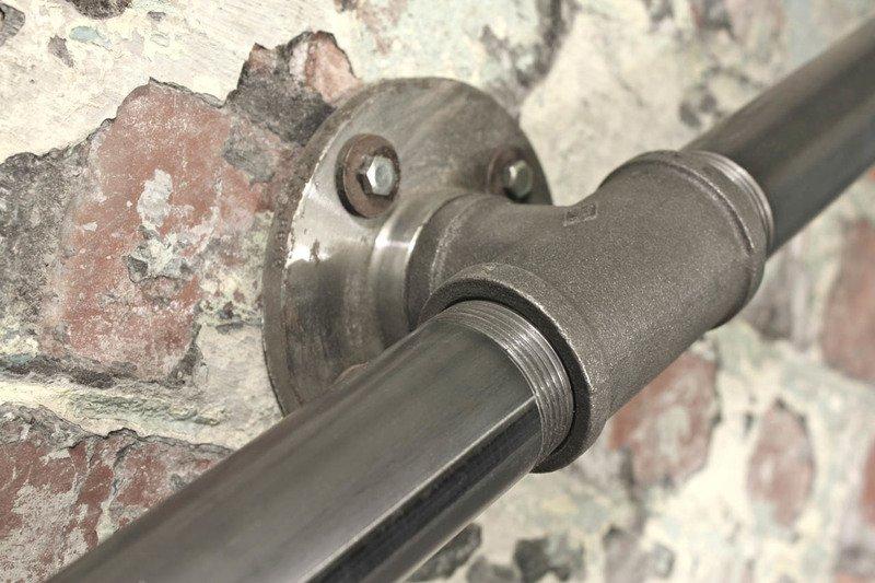 Susannah industrial dark steel pipe staircase hand rail or wall mounted ban carla muncaster treniq 1 1523265707981