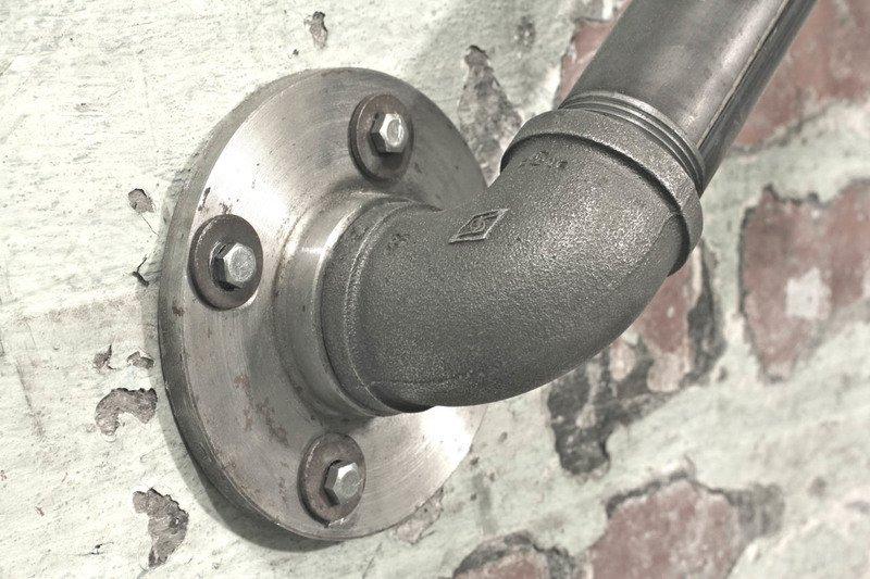 Susannah industrial dark steel pipe staircase hand rail or wall mounted ban carla muncaster treniq 1 1523265707954