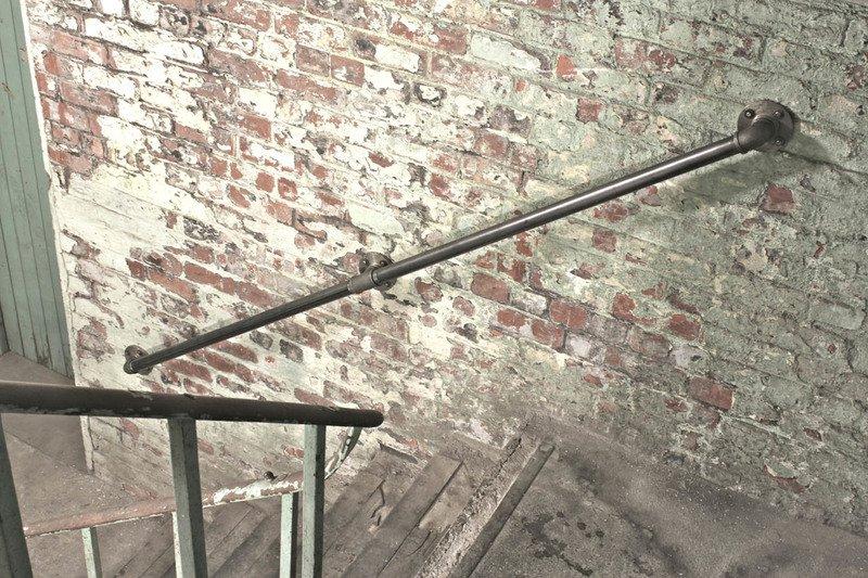 Susannah industrial dark steel pipe staircase hand rail or wall mounted ban carla muncaster treniq 1 1523265707979