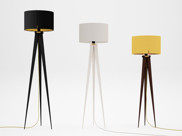 Handmade standing lamp tripod zapprian studio zappriani treniq 1 1523452432750
