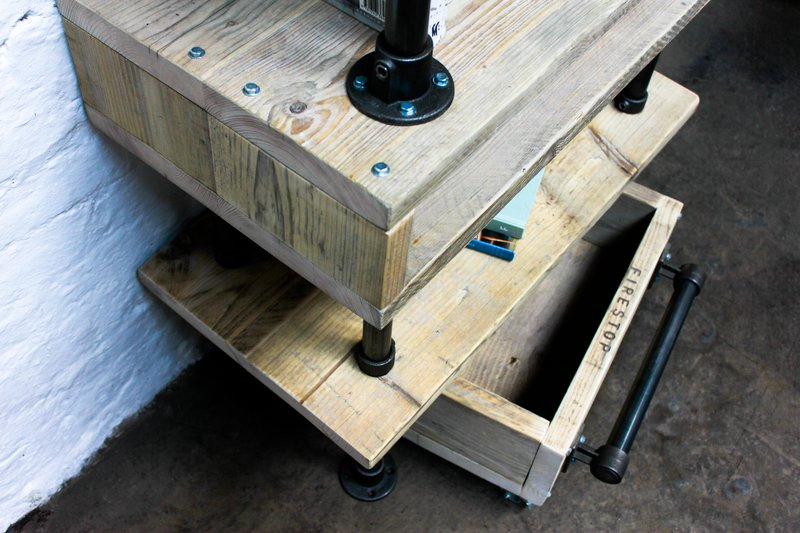 Pourreza reclaimed scaffolding  steel pipe industrial desk with storage  carla muncaster treniq 1 1523873526608