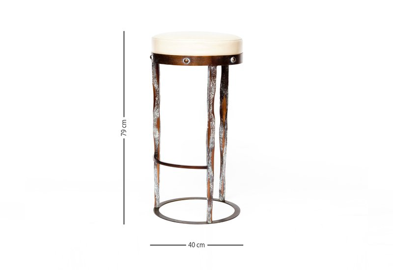 Haut perche bar stool candide bronze treniq 5