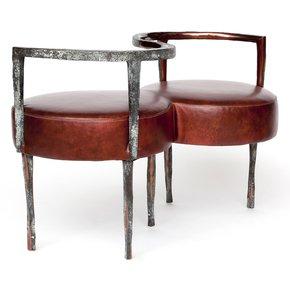 Le Confident Love Seat - Candide Bronze - Treniq