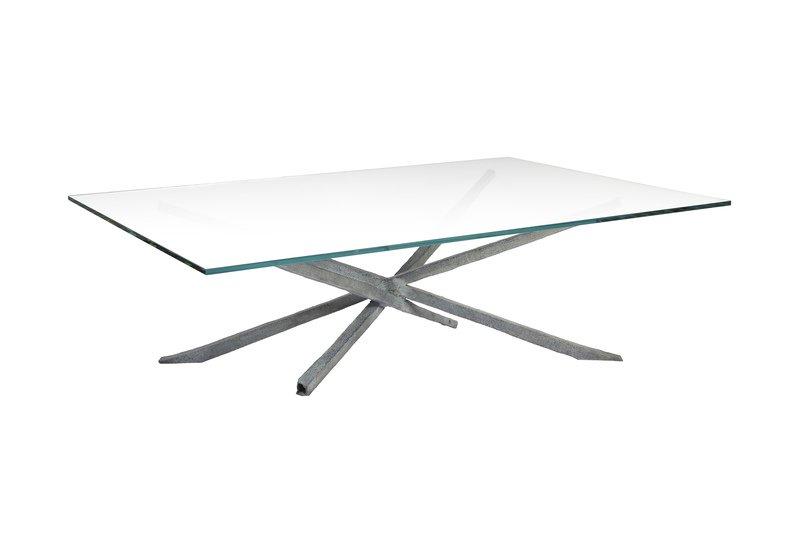 Textured coffee table candide bronze treniq 2