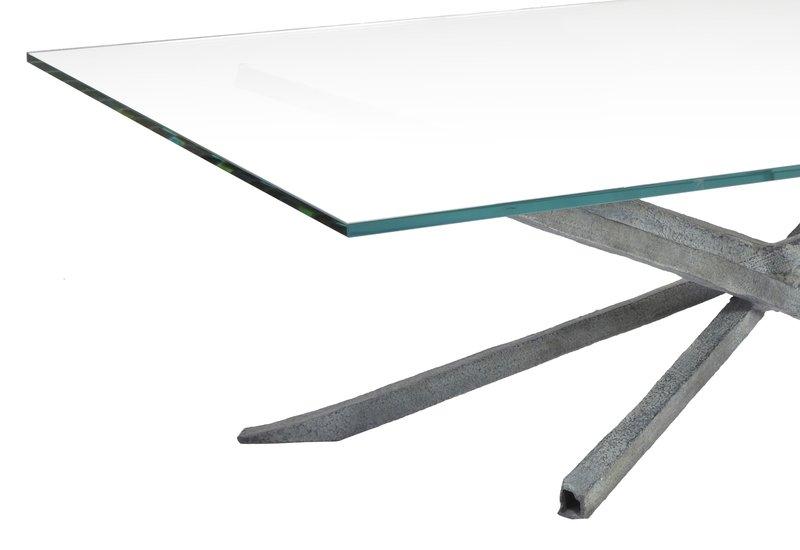 Textured coffee table candide bronze treniq 3