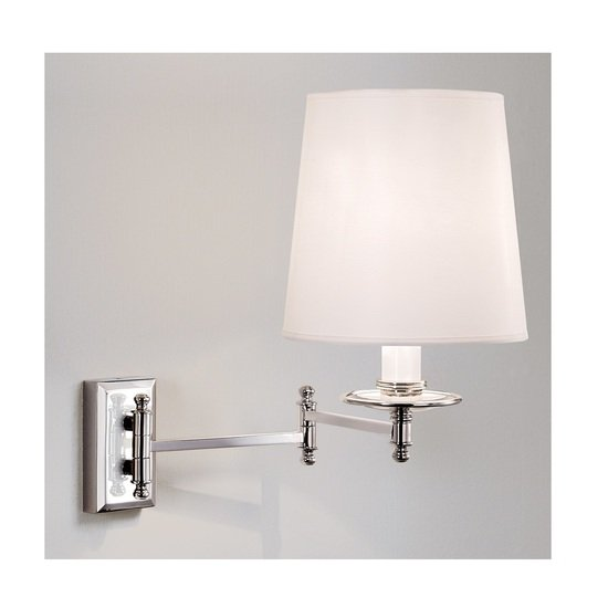 Nickel plated wall light with shade gustavian style treniq 2 1524226618068