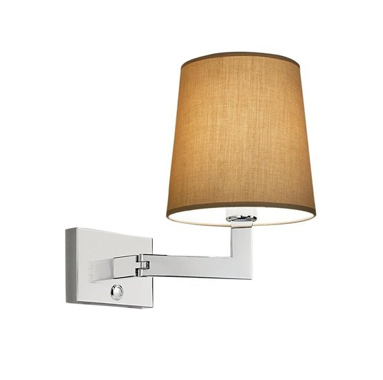 Polished chrome wall light with swivel hinge gustavian style treniq 2 1524226917786