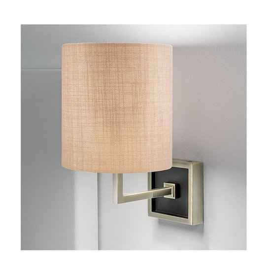 Wall lamp in antique brass and satin black gustavian style treniq 2 1524227619014