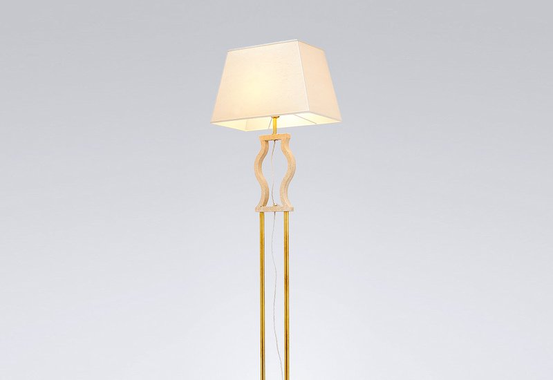 Gold brass floor lamp matlight milano treniq 2