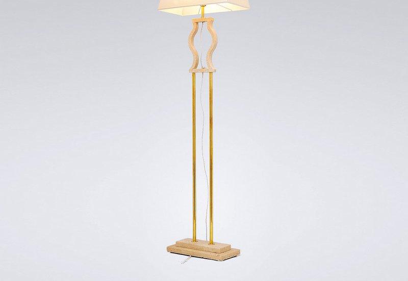 Gold brass floor lamp matlight milano treniq 3