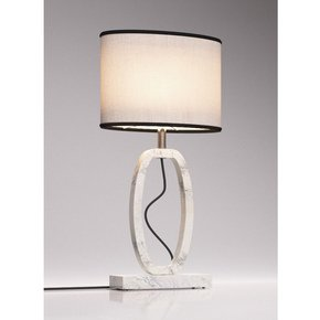 White Marble Table Lamp Round - Matlight Milano - Treniq