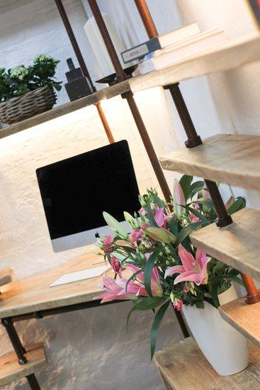 Mcleod reclaimed scaffolding  steel pipe industrial corner desk   shelves  carla muncaster treniq 1 1524563900858