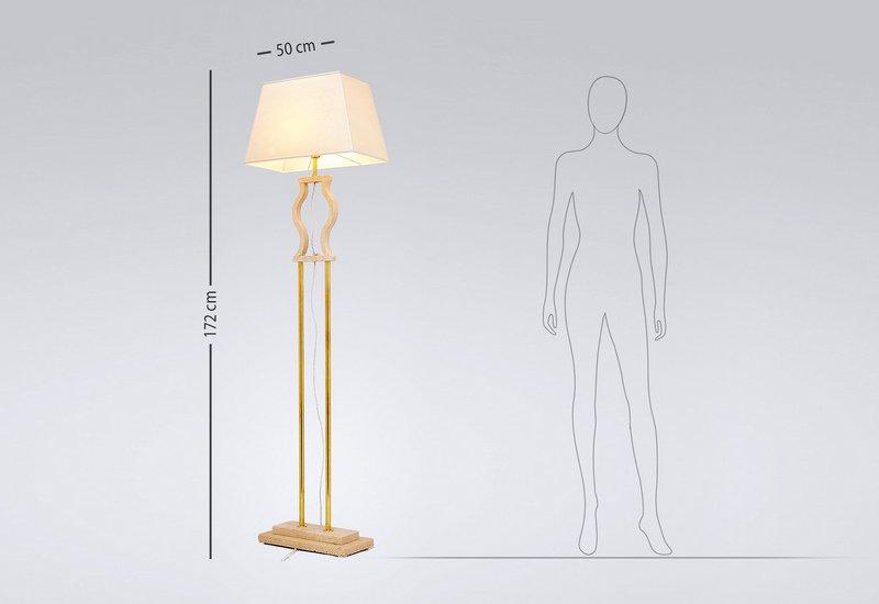 Gold brass floor lamp matlight milano treniq 5