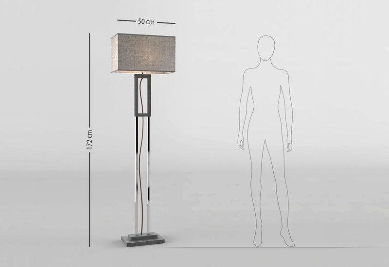 Grey marble floor lamp matlight milano treniq 5