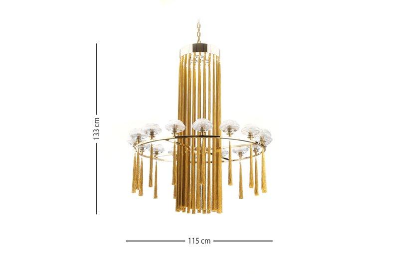 Tassel chandelier il paralume marina treniq 6