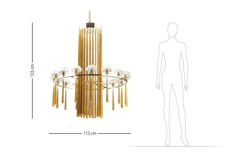 Tassel chandelier il paralume marina treniq 7