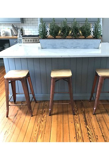 Counter height copper and rose gold bar stool wood top cielshop treniq 1 1525183481980