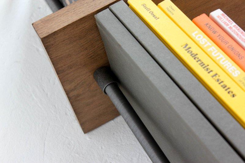Barnaby bespoke adjustable beech shelves with threaded steel pipe carla muncaster treniq 1 1526294703325