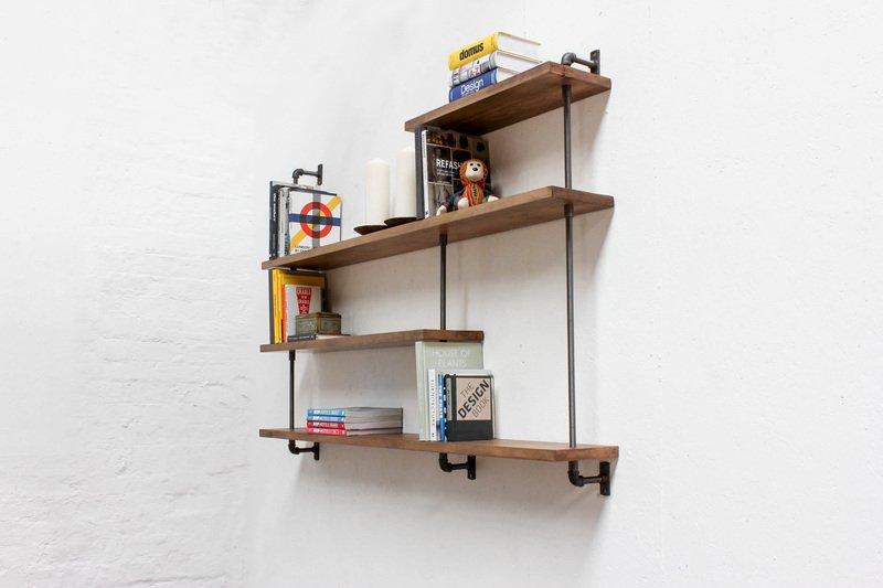 Barnaby bespoke adjustable beech shelves with threaded steel pipe carla muncaster treniq 1 1526294714243
