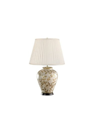 Chinese style porcelain lamp with gold leaves pattern and shade gustavian style treniq 1 1526371499533