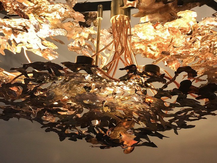 Copper leaf chandelier jonathan coles lighting studio treniq 1 1526459430492