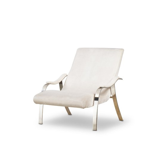Mantis lounge chair harry velvet natural  sonder living treniq 1 1526638193248