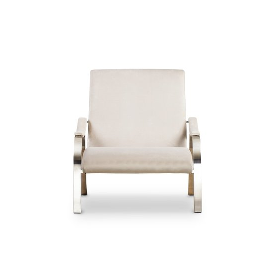 Mantis lounge chair harry velvet natural  sonder living treniq 1 1526638193255