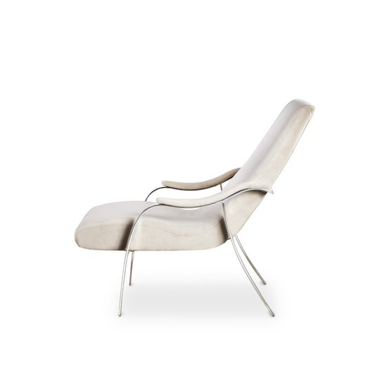 Mantis lounge chair harry velvet natural  sonder living treniq 1 1526638193258