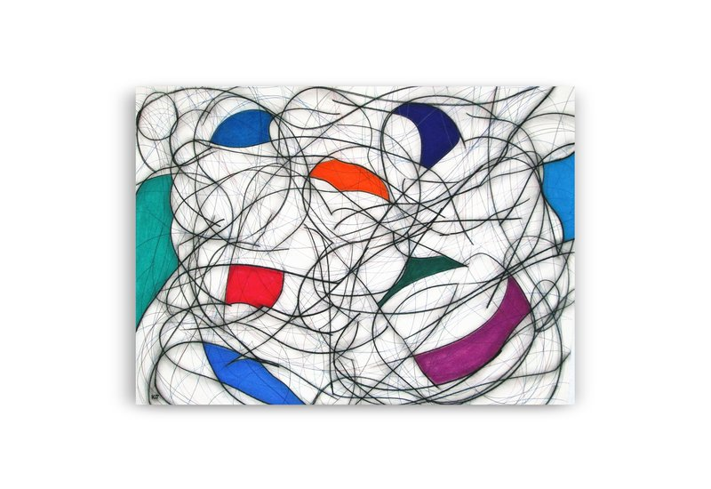 Nine colour abstract vii kevin jones treniq 1
