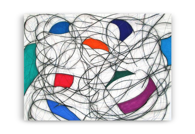 Nine colour abstract vii kevin jones treniq 2