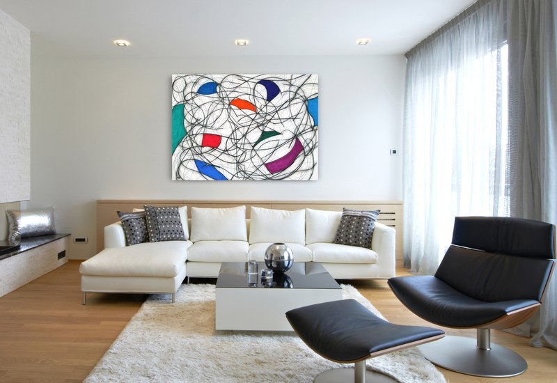 Nine colour abstract vii kevin jones treniq 3