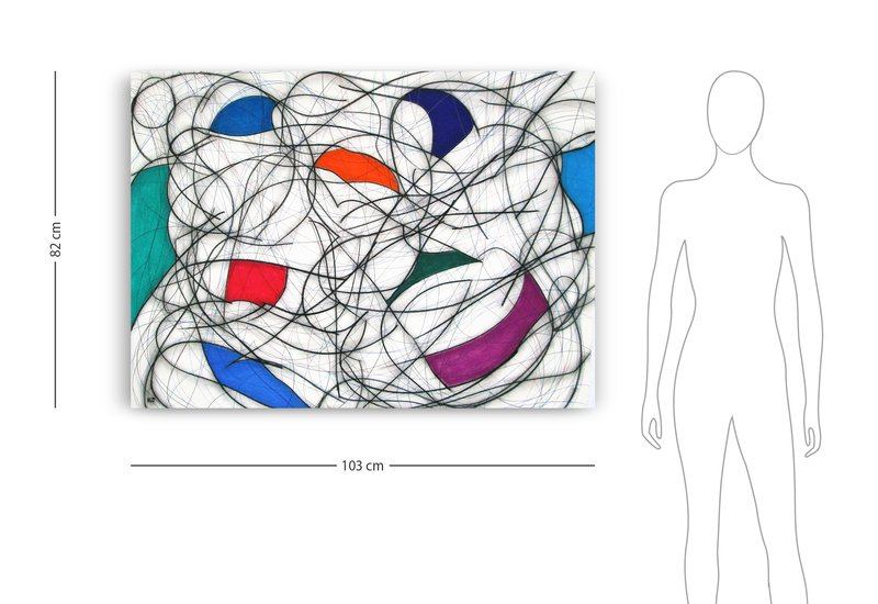 Nine colour abstract vii kevin jones treniq 5