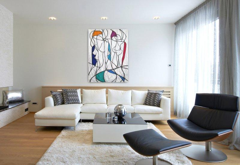 Seven colour abstract vi kevin jones treniq 2