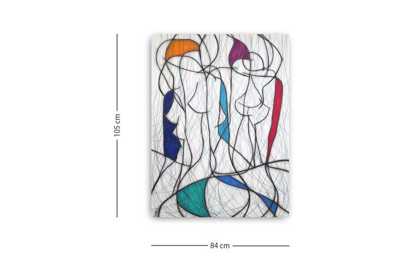 Seven colour abstract vi kevin jones treniq 3
