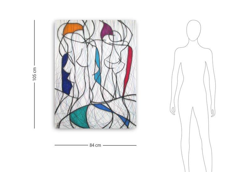 Seven colour abstract vi kevin jones treniq 4