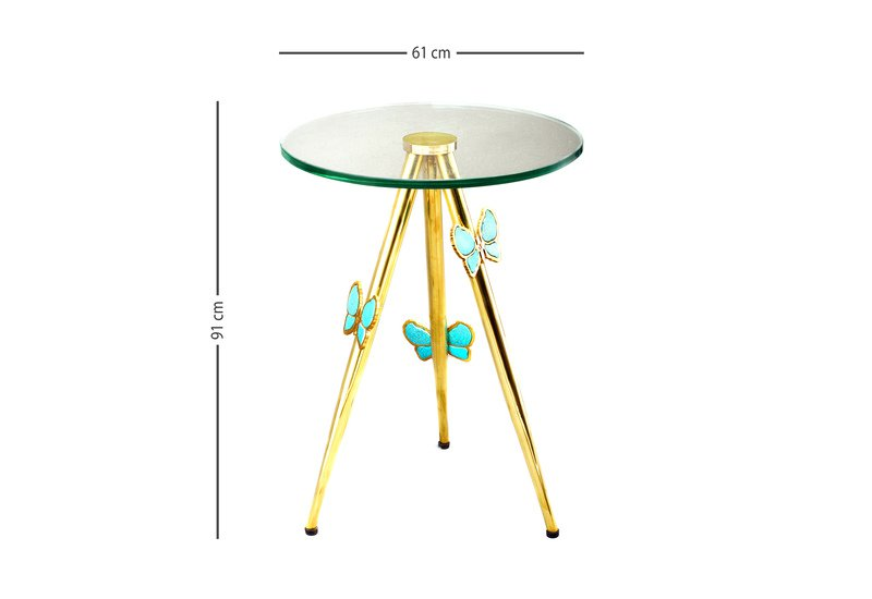 Butterfly side table aurum treniq 5