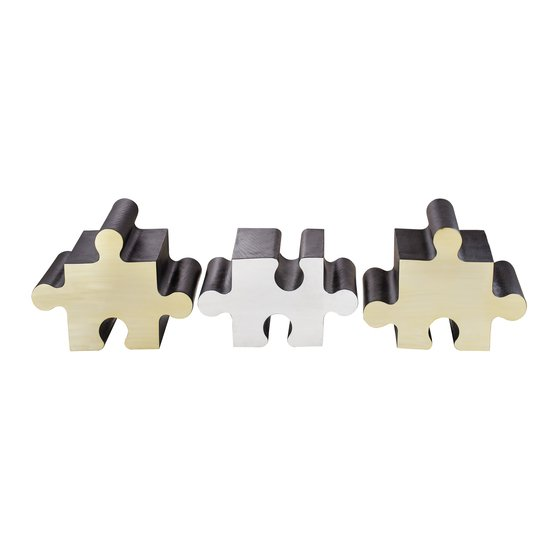 Metal jigsaw coffee table  sonder living treniq 1 1526643637936