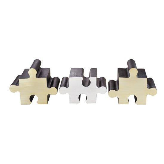 Metal jigsaw coffee table  sonder living treniq 1 1526643658406