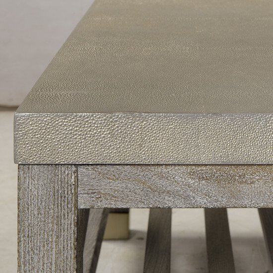 Percival coffee table shagreen top champagne shagreen   grey washed  sonder living treniq 1 1526644150638