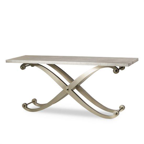 Elizabeth console table shagreen top ss legs  sonder living treniq 1 1526645151652