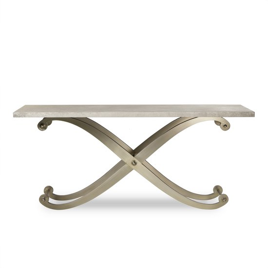 Elizabeth console table shagreen top ss legs  sonder living treniq 1 1526645151668