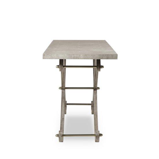 Elizabeth console table shagreen top ss legs  sonder living treniq 1 1526645151670