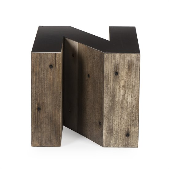 Alphabet side table letter n  sonder living treniq 1 1526646511533