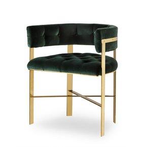 Art-Dining-Arm-Chair-Tufted-Green-Velvet-Mirrored-Brass-_Sonder-Living_Treniq_0