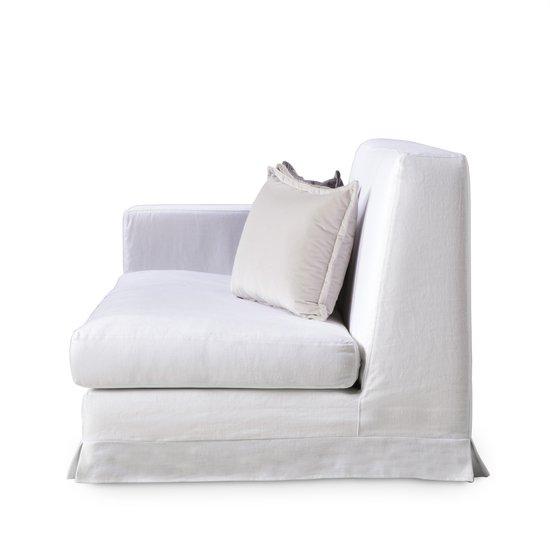 Jackson modular sofa left arm facing warm white  sonder living treniq 1 1526882724788